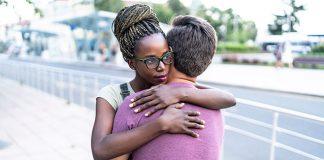 couple hugging | unhealthy dependency