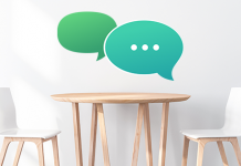empty chairs with speech bubbles | how to talk about stds with a new partner
