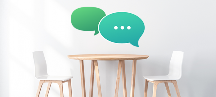 empty chairs with speech bubbles   how to talk about stds with a new partner