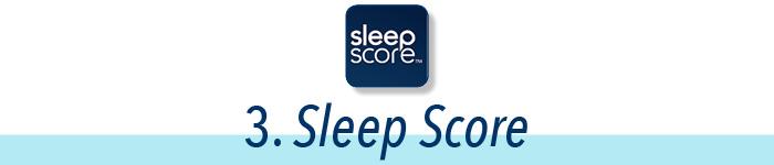 3. Sleep score