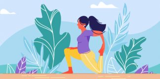 illustration of girl stretching | stretches to increase flexibility |