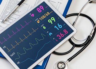 iPad with health tests