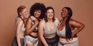 group of happy friends   weight stigma