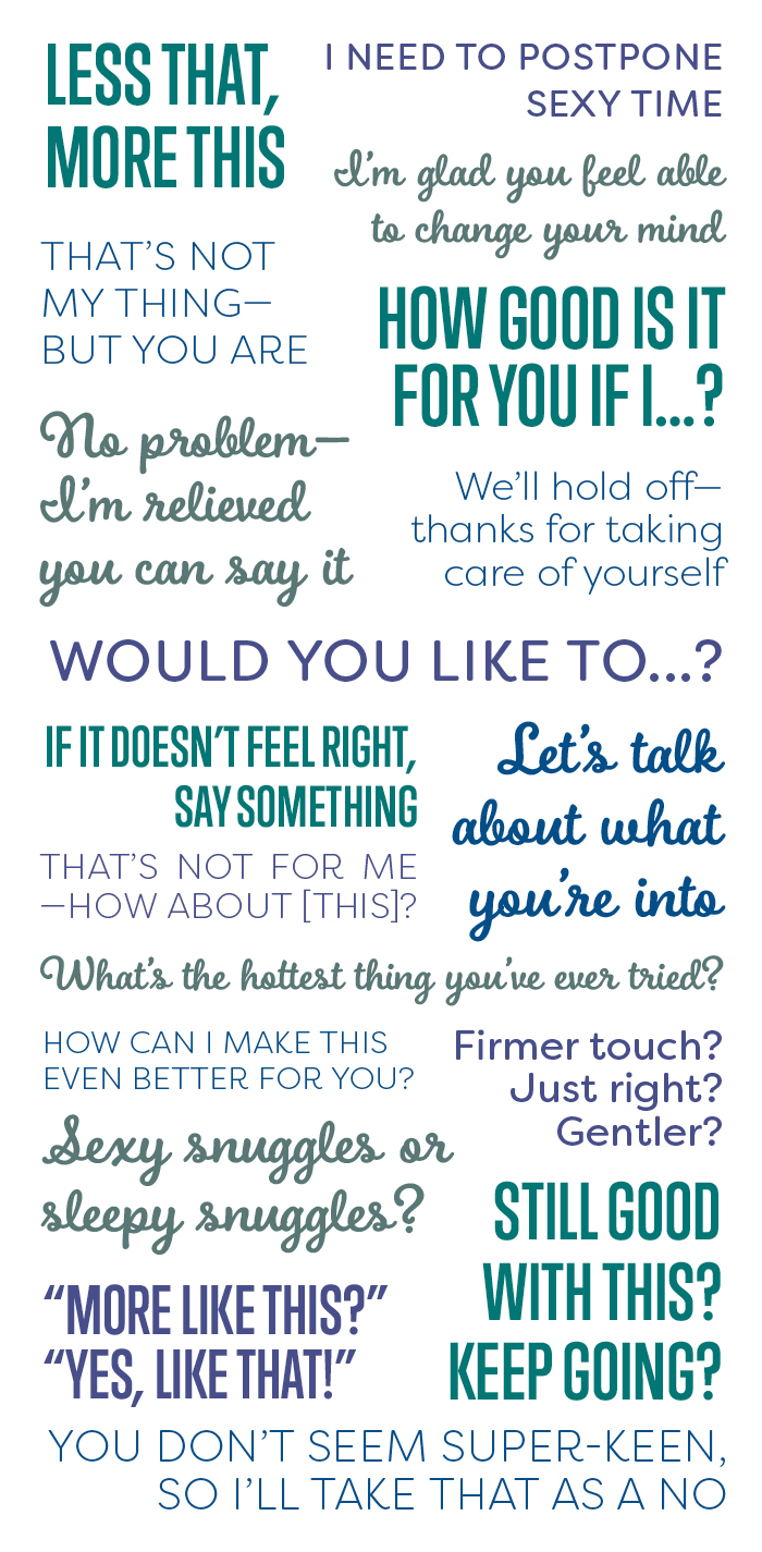 consensual communication infographic | how to communicate during sex