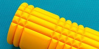 yellow foam roller | foam rolling muscles
