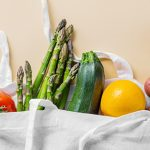 vegetables in a linen bag | how to reduce food waste at home