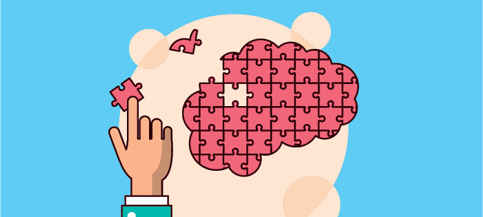 Brain puzzle illustration