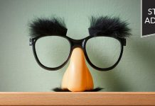 Student advocate: funny disguise glasses