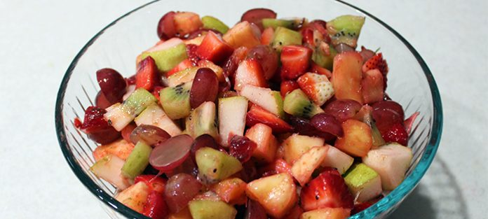prepared fruit salad