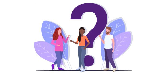 vector image for people and question mark | how to gain weight healthy