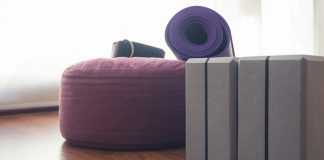 yoga poses for stress | purple yoga equipment