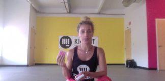 Eliza Shirazi sits explaining deck of cards workout
