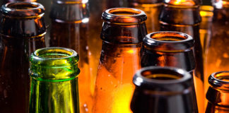 Open beer bottles