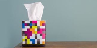 Colorful tissue box