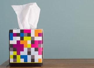 Colorful tissue box
