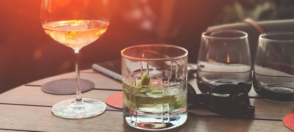 cocktails on table | alcohol and sexual assault