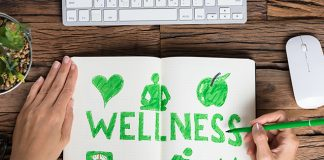 green wellness concept doodles | How to break bad habits