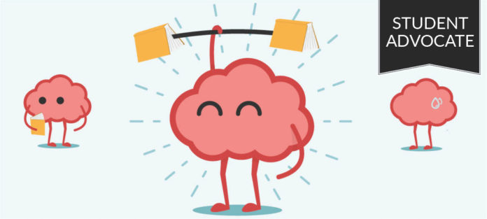 Student advocate: Brain lifting books as weights