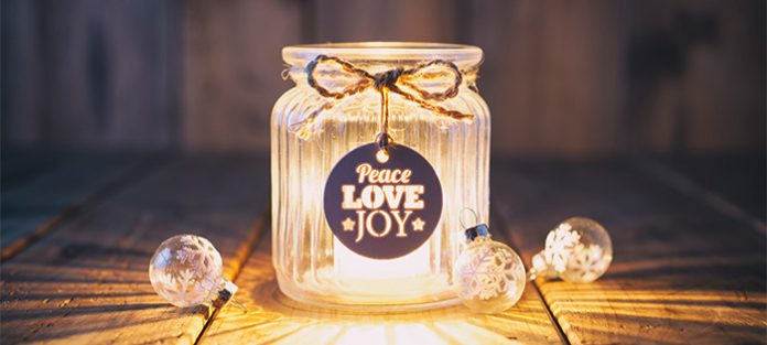 candle decoration and holiday mindfulness