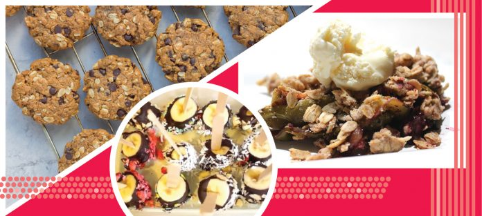 collection of plant based desserts
