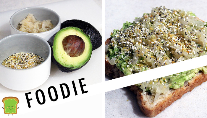 foodie avocado toast with seasonings