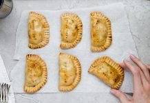 top view of fresh empanadas | baked empanadas recipe