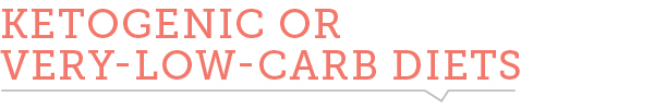 Ketogenic or very-low-carb diets