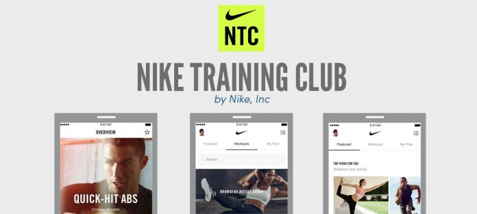Al frente Autónomo Talla  Apps and podcasts we love: Nike Training Club - CampusWell