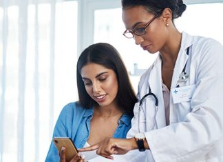 doctor and patient reviewing LARC options