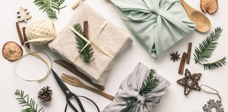 fabric wrapped gifts | DIY holiday gifts