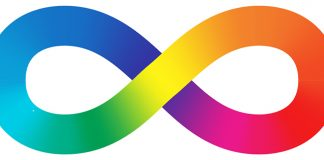 Rainbow infinity symbol | autism in college, things to know about autism