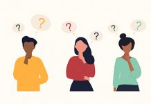 Diverse vector characters with thought bubbles above their heads | tips for choosing a major