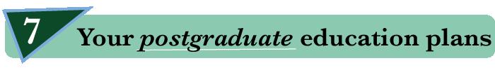 7. Your postgraduate education plans