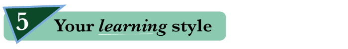 5. Your learning style