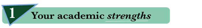 1. Your academic strengths