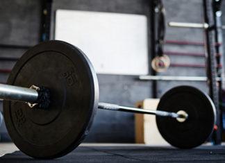 barbell in crosstraining gym