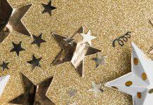 gold glitter stars