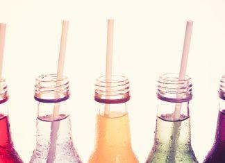 assortment of bottled drinks