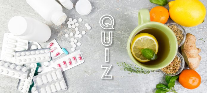 Quiz, image of medicine and natural remedies