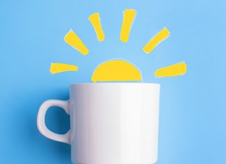 mug with sunshine