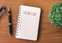 to-do list on desk