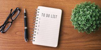 to-do list on desk