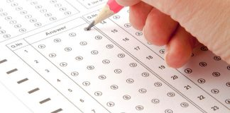 Filling out test answers