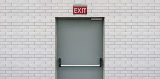 Emergency exit door