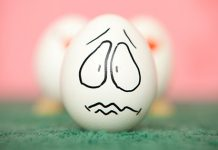 Worried looking egg