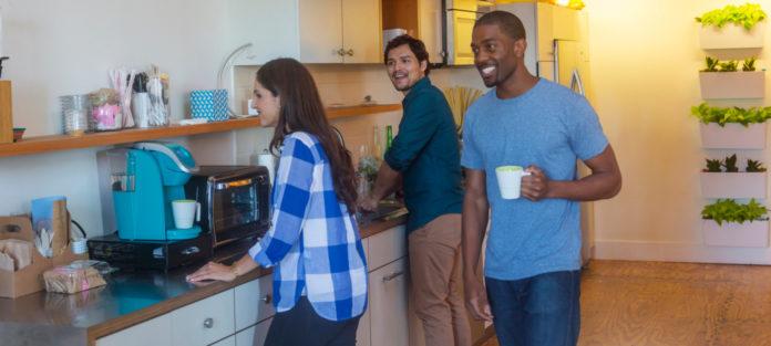 Roommates in kitchen