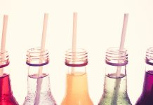 assortment of bottled drinks