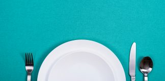 empty plate and utenstils