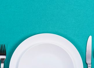 empty plate and utenstils