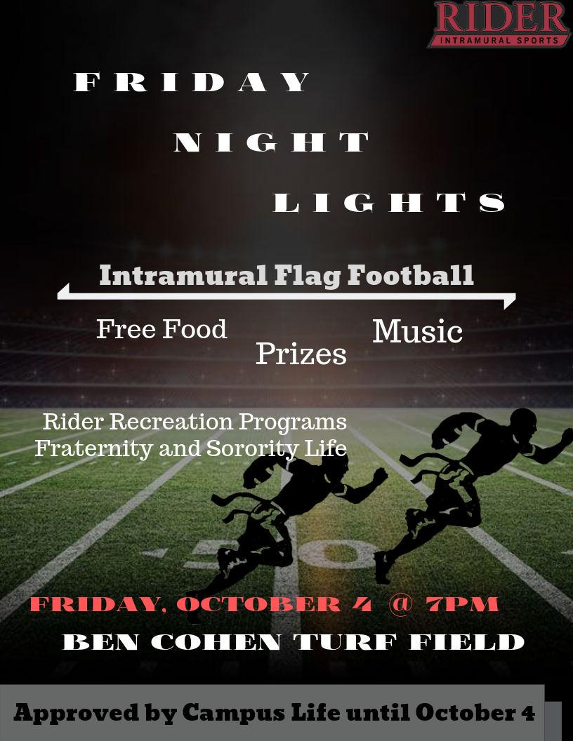 Friday Night Lights Flyer